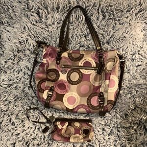 Authentic Coach Bag with Wristlet